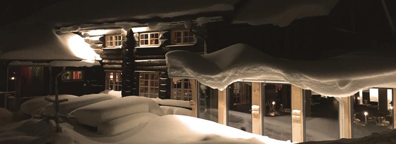 Vinterbild på restaurangen